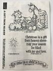 Gift from Heaven 4 Rubber Stamps Nativity Baby Jesus Star Stampin Up New 1998