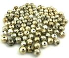 Lot of 110 S S Light Patina 8mm Beads for Native American  Southwestern Jewelry