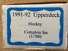 1991-92 Upper Deck Hockey Complete Set 1-700 Three Graded Cards Included