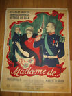 EARRINGS OF MADAME DE original 1953 French poster Max Ophuls Charles Boyer