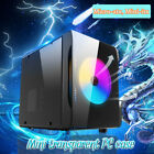 Mini Transparent Gaming Computer PC Case with Three Sides For Micro atx Mini itx