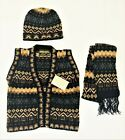 Alpaca Wool Vest , Scarf and Beanie set for Kids - Size 6 -  Made in Peru.