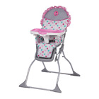 Disney Baby Simple Fold Plus High Chair with Adjustable Tray Minnie Dot Fun