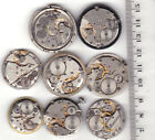Lot of 8 MEN WATCHES  Vintage Movements Steampunk Art  or for parts *A237