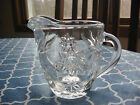 Anchor Hocking Early American Prescut Clear Glass Creamer