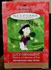 RARE 2000 NEW HALLMARK LUCY ORNAMENT - A SNOOPY CHRISTMAS - #3 OF 5 SET SCARCE