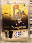 2012-13 12 13 Anthology Kobe Bryant Autograph Game-worn Patch #1 8 Topper SSP