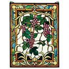 The Grape Vineyard Stained Glass Window Design Toscano Hand Crafted Art Glass