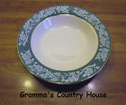 Homer Laughlin / Century Service Corporation TEAL GREEN Rimmed Soup Bowl