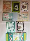 Lot of 8 Pretty Handmade Assorted Occasions cards made w Stampin Up supplies