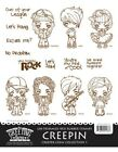CREEPIN The Greeting Farm Rubber Stamp Stamping Craft Creeper Crew Kit 1 RETIRED