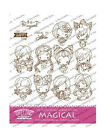 MAGICAL KIT The Greeting Farm Cling Rubber Stamp Stamping Craft Bean RETIRED