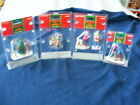 NEW LEMAX 4 Sets VILLAGE FIGURINES TREE PRESENTS BENCH SKIERS Coventry Village
