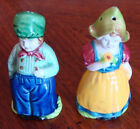 Vintage Holland Dutch made in Japan Girl and Boy Mini Salt  Pepper Shakers