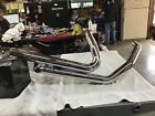 Harley Davidson 10 16 VANCEHINES Chrome Touring Duals Header Pipes