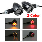 Motorcycle Custom 3D Skull LED Turn Signals Indicator Brake Light Amber Black US