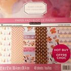 WARM LUXURY 12X12 SCRAPBOOKING CARDSTOCK PAPER PAD 48 LOT RECOLLECTIONS NEW