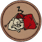 Sleeping Polar Bear Patrol Patch 2 Round Embroidered Patch