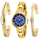 Invicta Womens Quartz Watch Angel Blue Mother of Pearl Dial Steel Bracelet