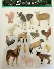 1 sheet 14 stickers  realistic farm animal stickers cards Easter journals DIY