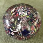 Very GOOD Antique NEW ENGLAND GLASS Faceted Scramble PAPERWEIGHT Excellent Cond