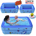 Hot Family Children Inflatable Shark Swimming Pool Baby Kids Water Play Fun S L
