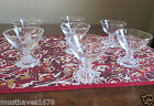 Anchor Hocking Lot  7  BOOPIE Bubble Footed  CLEAR  Champagne Tall Sherbet Glass