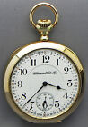 A 16 Size 21 Jewel Model 105 Hampden Pocket Watch With A Montgomery Dial