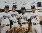 Ron Cey Davey Lopes Steve Garvey Russell Signed Dodgers Infield 16x20 Photo JSA