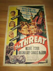 THREAT film noir 1sh 1949 Michael OShea Charles McGraw Virginia Grey