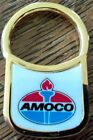 VINTAGE AMOCO OIL COMPANY TORCH BRASS? ENAMEL KEY TAG RING NEW IN ORIGINAL BOX