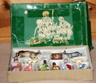 VINTAGE FRIEDEL BAVARIA GERMANY Nativity FIGURINES 13 pc SET HAND PAINTED M576