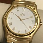 EBEL 1911 SOLID 18kt YELLOW GOLD Watch! - New Battery! ~ Mint Condition ~ NR!!