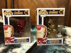 Funko Pop Chrome Iron Man - Exclusive Gold Popcultcha And Target Red Chrome