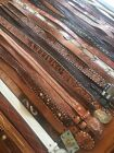 Large LOT OF 28 Vintage HAND TOOLED LEATHER Beaded WESTERN Rodeo BELTS Braided