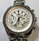 Breitling Bentley Motors Chronograph 48mm Watch A25362 White Face Automatic