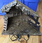 FONTANINI ITALY LARGE STABLE NATIVITY VILLAGE CRECHE W LIGHT 145H 1925W