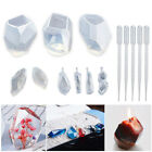 15Pcs Set Clear Silicone Mold DIY Resin Crystal Pendant Jewelry BMaking Mold LS
