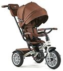 Bentley Trike 6-in-1 Reversible Seat Convertible Tricycle Stroller White Satin