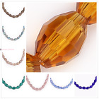Rugby Crystal Faceted Oval Glass Beads Spacer Jewelry Making Finding Bead 8x6mm