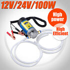 100W Electric Oil Transfer Extractor Fluid Diesel Pump Siphon Car Motorbike 12V