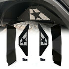 Black Steel offroad Rear Inner Fender Kit fits 2007 18 Jeep Wrangler JK