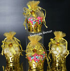 6 GOLD CROWN FILLABLE PARTY FAVORS PRINCESS PRINCE BABY SHOWER TABLE DECORATION