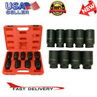 9pcs Deep Impact Socket Set 12 Drive Metric Axle Hub Nut Socket Tool 29-38mm