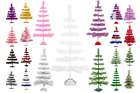 Feather Tinsel Christmas Tree Hand Made Ornament Tree Table Top Easter