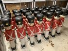 Lot Of 6 Vintage Empire 30 Christmas Lighted Blow Mold Toy Soldier Nut Crackers