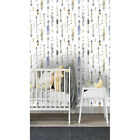 Boho native arrows Non woven wallpaper blue and green wall mural vlies