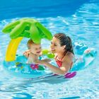 NEW Double Swimming Ring Baby Pool Float With Canopy Sea Mattress