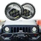 For JEEP JK Wrangler TJ 7 Inch 75W LED Headlight H4 H13 DRL HIGH LOW BEAM 2PCS