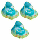 SwimWays Infant Spring Inflatable Swimming Pool Float with Canopy 3 Pack